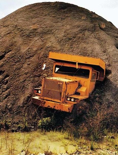 LKW leicht überladen