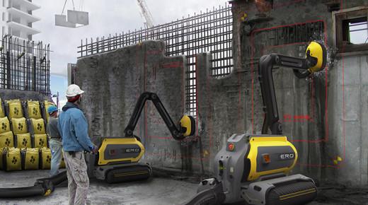 Roboter zum automatischen Betonabtrag mit Wasserhochdruck